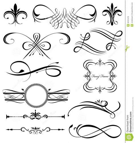 fancy lines  stock vector illustration  elements