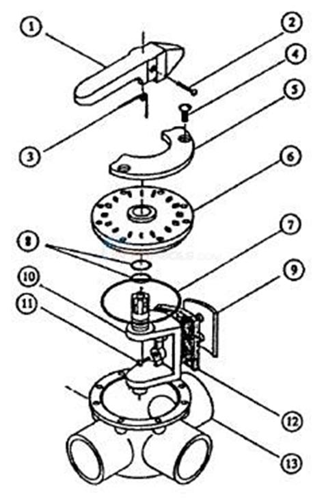 3 Way Valve Diagram by American Products 2 3 Way Valve Parts Inyopools
