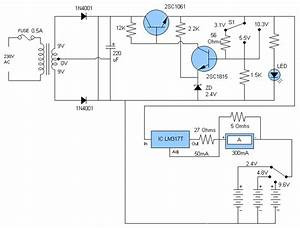 Soft Wiring  9 Volts Charger Diagram