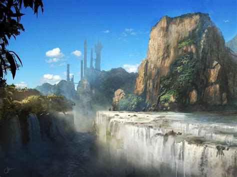 waterfalls mountains scenery wallpapers waterfalls