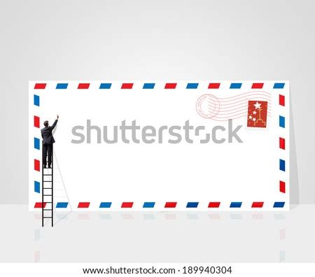 air mail envelope postal stamps stickers stock vector