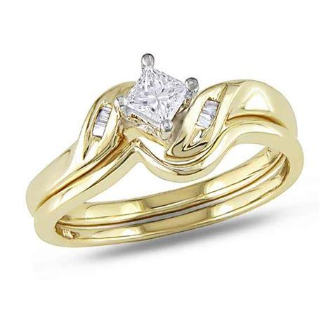 graceful cheap wedding 0 25 carat princess cut gold jeenjewels