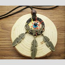 New Diy Retro Handmade Dreamcatcher Feathers With Bead