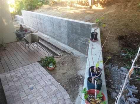 poured concrete retaining wall i built a concrete retaining wall as a defense against el nino networx