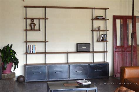 meuble tv etagere bois maison  mobilier dinterieur