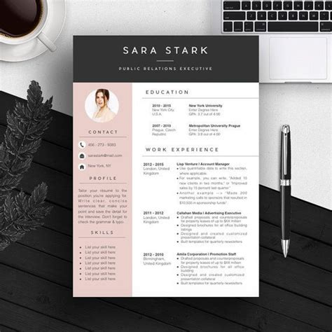 Modern Resume Template Microsoft Word 50 Best Templates