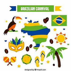 Brazilian carnival elements Vector | Free Download