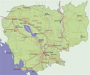 Carte Du Monde Metallique : cambodge carte g ographique voyages cartes ~ Teatrodelosmanantiales.com Idées de Décoration