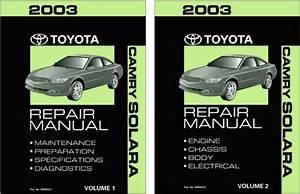 2003 Toyota Camry Solara Shop Service Repair Manual Book