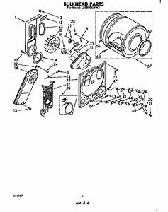 Whirlpool Le5800xmw2 Dryer Parts