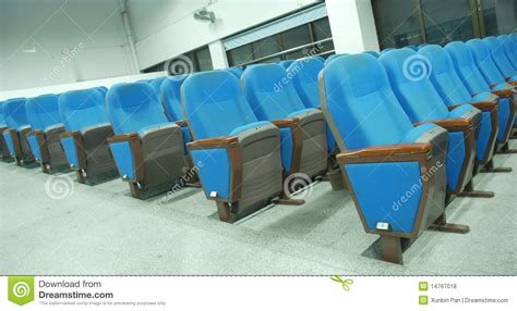 blue chairs in conference room royalty free stock photos