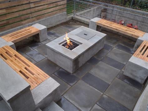 concrete garden table and benches home design ideas