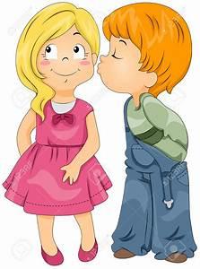 Boy Girl Kissing Clipart