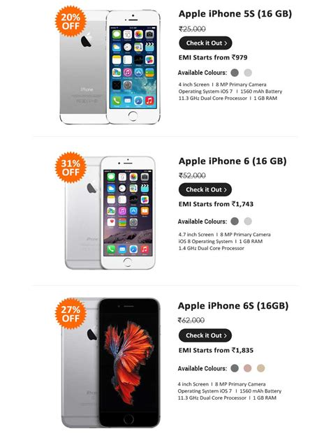 iphone 6 cheapest price infibeam up to 42 on apple iphone 6 6s 5s