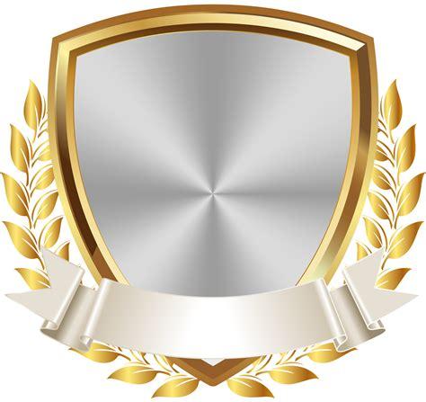 gold white badge  banner png clip art image brasao