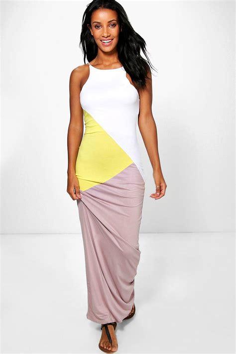 color block maxi dress colour block maxi dress