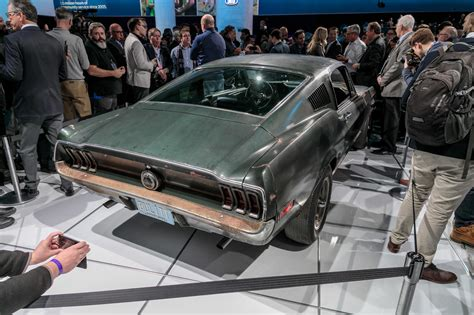 Motor Show 2019 : Unrestored 1968 Ford Mustang From Bullitt Is A Detroit