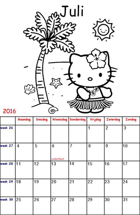 Kleurplaat Kalender Maart by Hello Kalender Kinder Kleurplaten