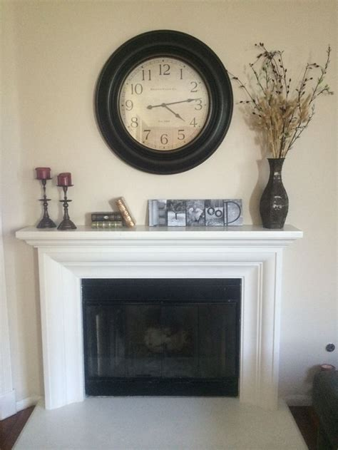 oversized wall clock  mantle   home