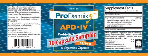 Apd Iv Probiotic Supplement Sampler