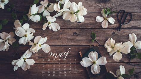 Cherry Blossoms Desktop Calendar- Free May