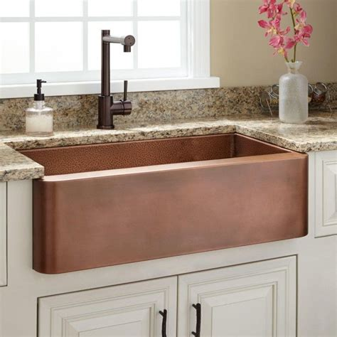 Kitchen Sinks With Backsplash by 30 Quot Raina Copper Farmhouse Sink For The Home Farmhouse