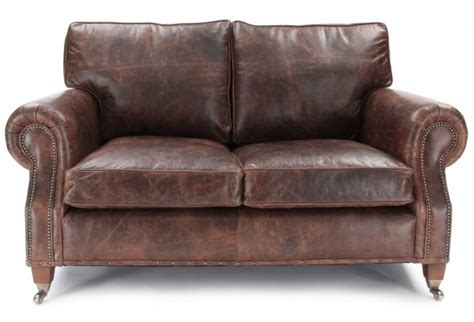 antique leather sofas hepburn shabby chic vintage leather small 2 seater sofa 1290