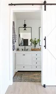 Modern, Farmhouse, Master, Bathroom, Renovation, With, Delta, The, Process, U0026, Reveal