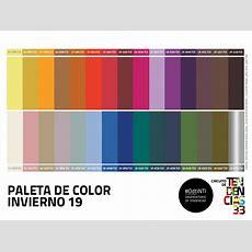 Paleta De Color Invierno 19  Mundo Textil