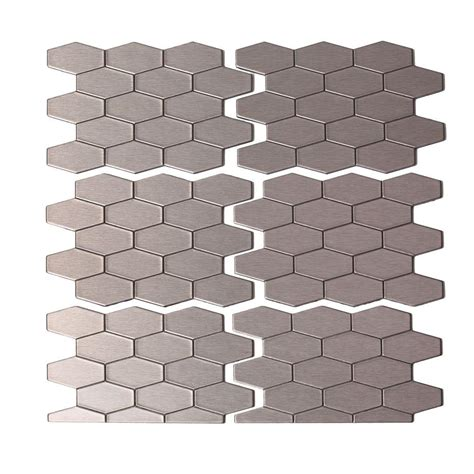 smart tiles peel and stick hexagon smart tiles ruby 11 55 in x 9 64 in peel and stick