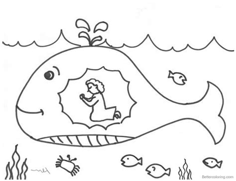 jonah and the whale coloring page jonah and the whale coloring pages praying free