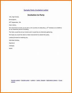 invitation letter for birthday letters free sample letters With birthday party letter