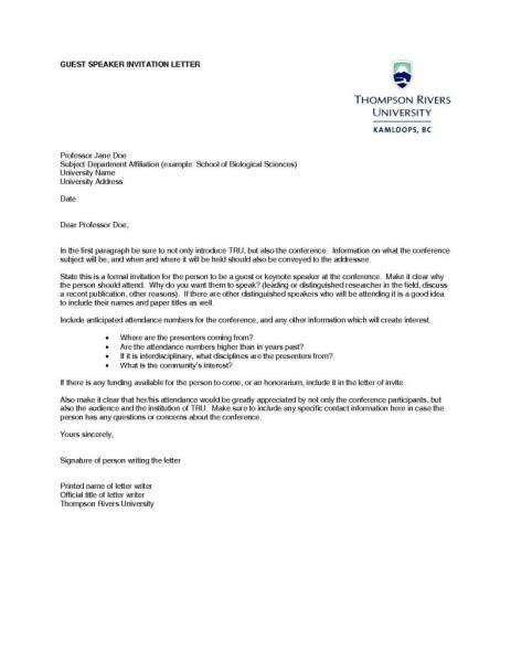 keynote speaker invitation letter