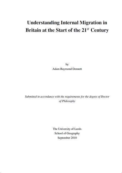 dissertation cover sheet