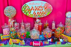 Candy Buffet: Candy Land Quinceanera and Party Planning