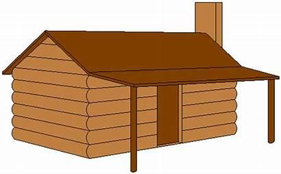 Cabin Log Clipart Clip Cliparts Cartoon Fort