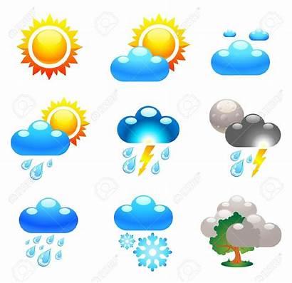 Forecast Weather Symbols Clip Clipart Cartoon Conditions
