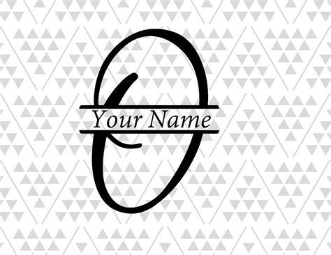 Monogram Letter O Split Letter O Vine Font Svg Fancy Font