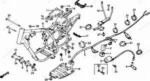 Honda Atv 1982 Oem Parts Diagram For Frame    Wire Harness