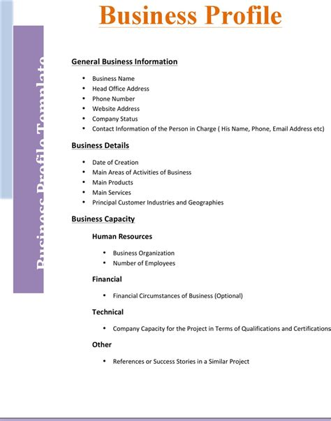 download business profile template 2 for free tidyform