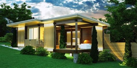 We specialize in modern designs, farmhouse plans, rustic lodge style and small home design. Ultra-modern small home Madeira - YZY Kit Homes
