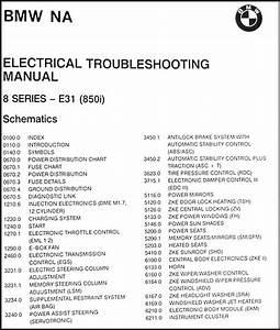 1991 Bmw 850i Electrical Troubleshooting Manual Original