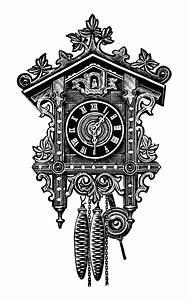 Antique Cuckoo Clocks ~ Free Clip Art | Old Design Shop Blog