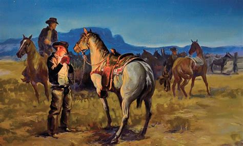 imagenes arte pinturas imagenes caballos  vaqueros