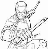 Coloring Dare Devil Daredevil Again Bar Don Looking Case sketch template