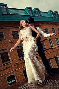 1930s gangster style rock n roll bride With gangster wedding dresses