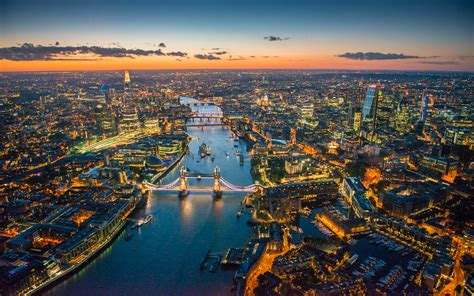 Aerial Photographs Of The London River Thames Above Hd
