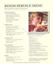 Disney Cruise Room Service Menu