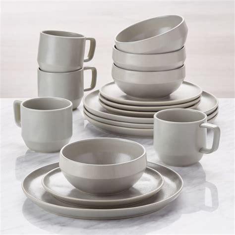 visto  piece grey stoneware dinnerware set reviews