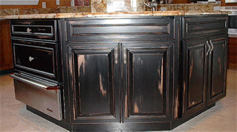 distressed black kitchen cabinets age and distress faux painting of kitchen cabinets 6779